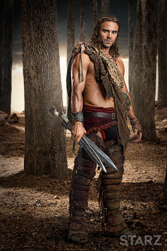 Gannicus portrayed by Dustin Clare