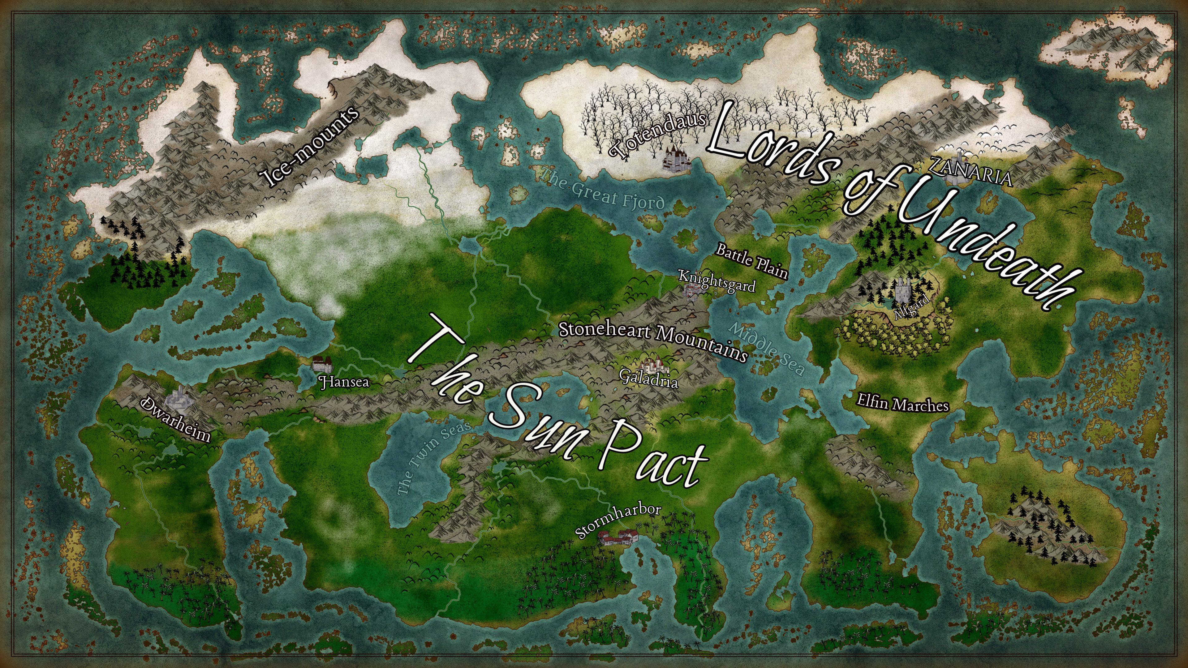 Sun Saga World Map